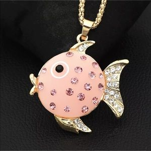 Cute Pink Fish 🐟 Necklace